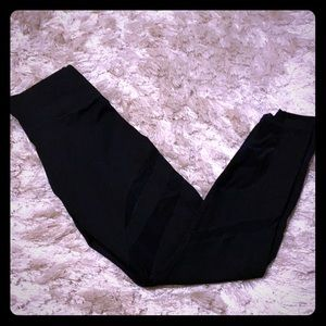 Fabletics black compression tights . Never worn